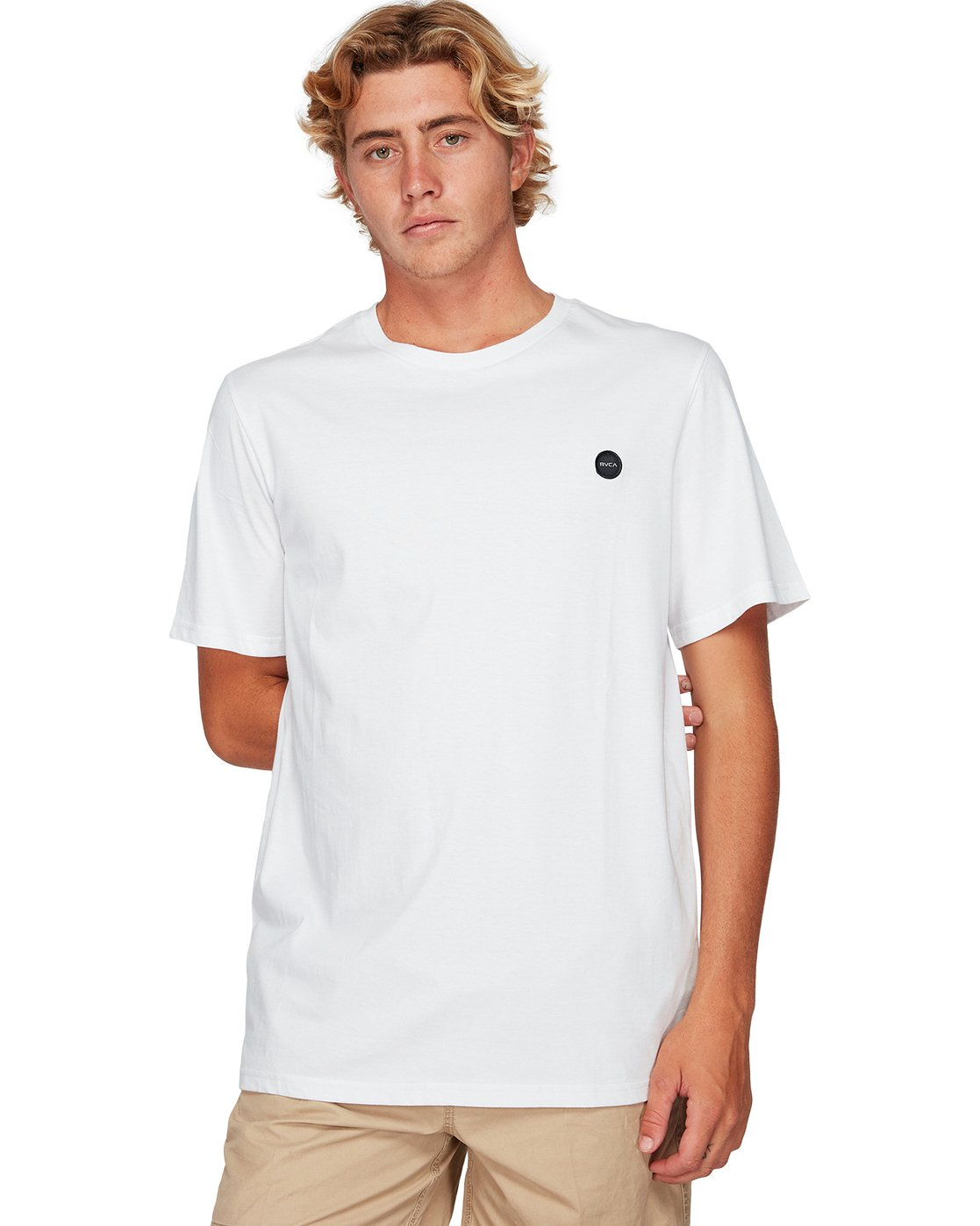 1 Motors Badge Short Sleeve T-Shirt  R192059 RVCA