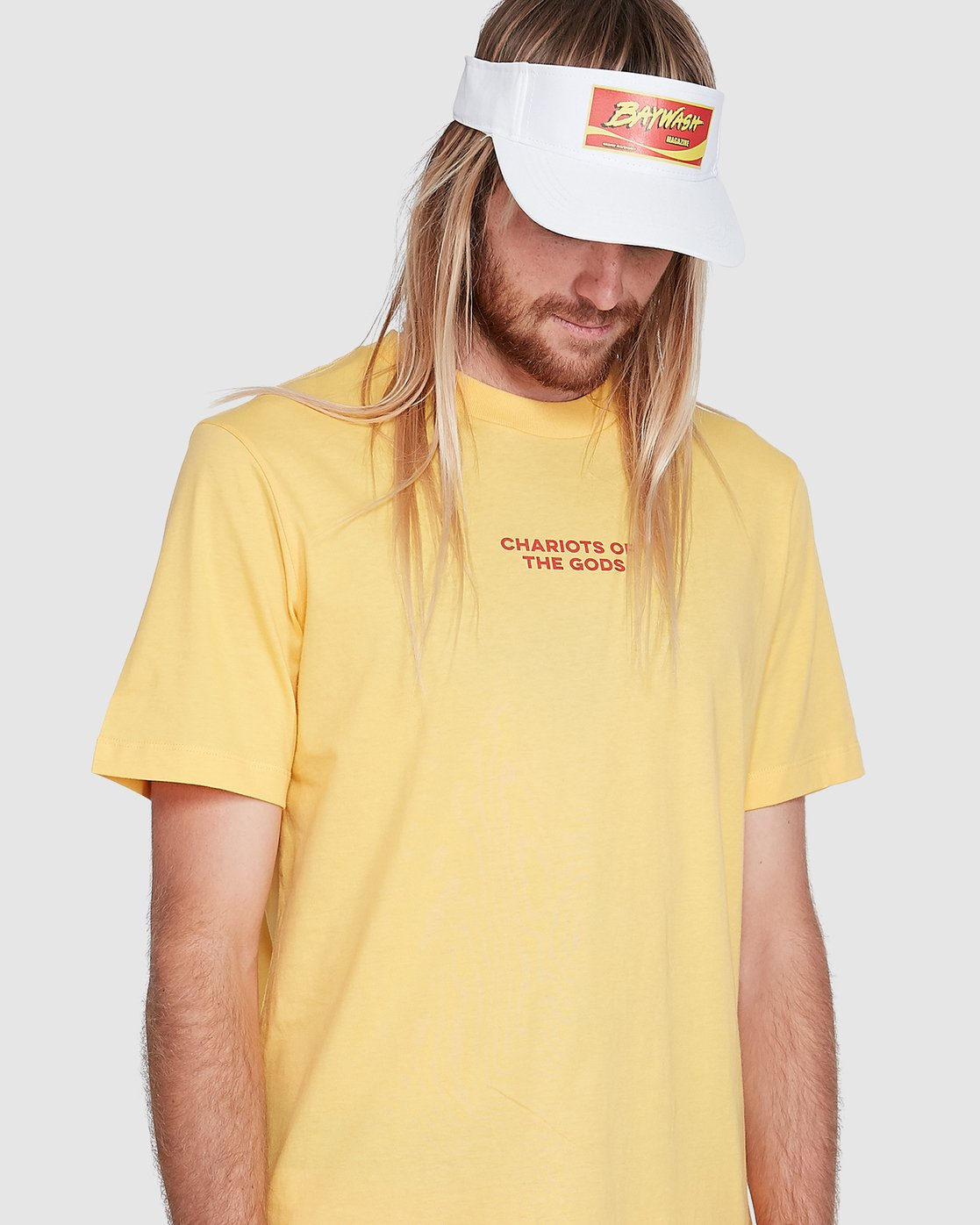 4 Chariot Of The Gods Short Sleeve Tee Yellow R192066 RVCA