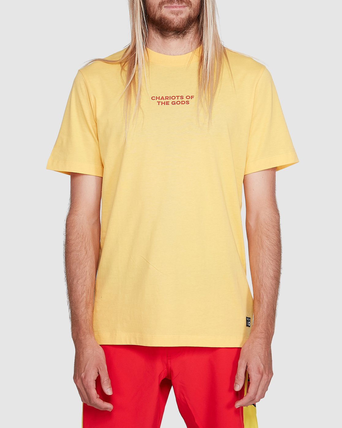 1 Chariot Of The Gods Short Sleeve Tee Yellow R192066 RVCA