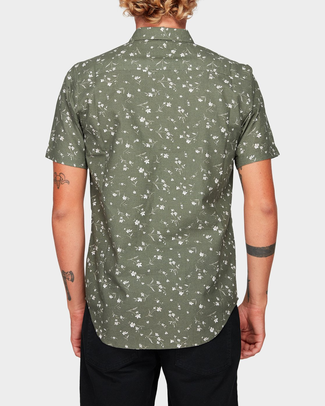 3 Jungle Dreams Short Sleeve Shirt Green R192183 RVCA