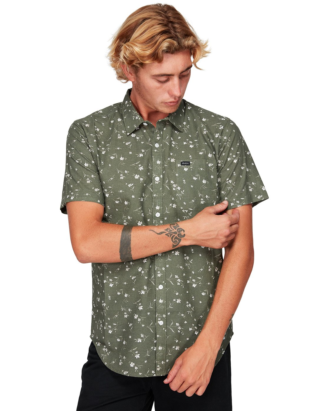 1 Jungle Dreams Short Sleeve Shirt Green R192183 RVCA