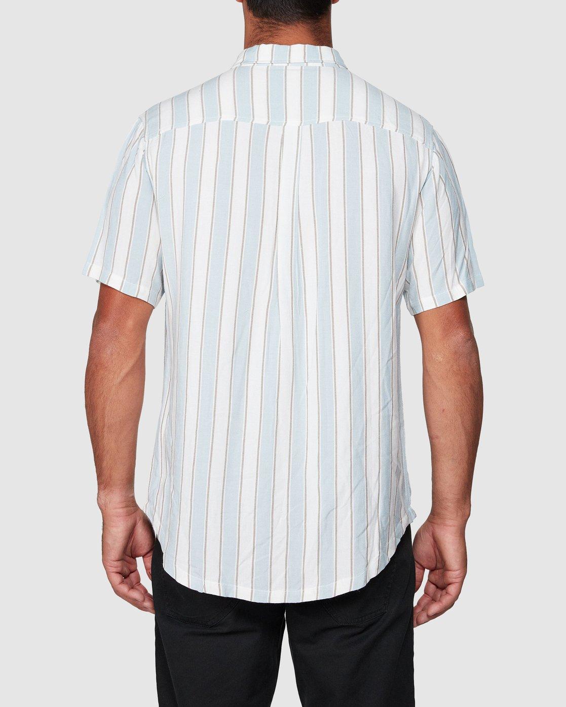 3 Caravan Stripe Short Sleeve Shirt  R192185 RVCA