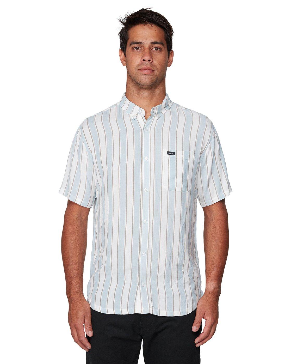 1 Caravan Stripe Short Sleeve Shirt  R192185 RVCA