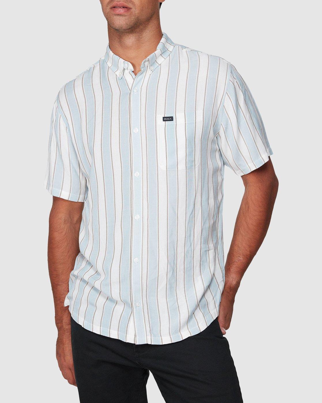 0 Caravan Stripe Short Sleeve Shirt  R192185 RVCA