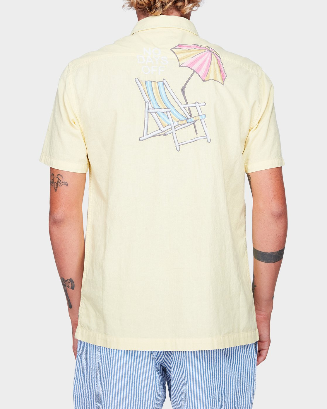 3 Paradiso Short Sleeve Shirt Yellow R192187 RVCA