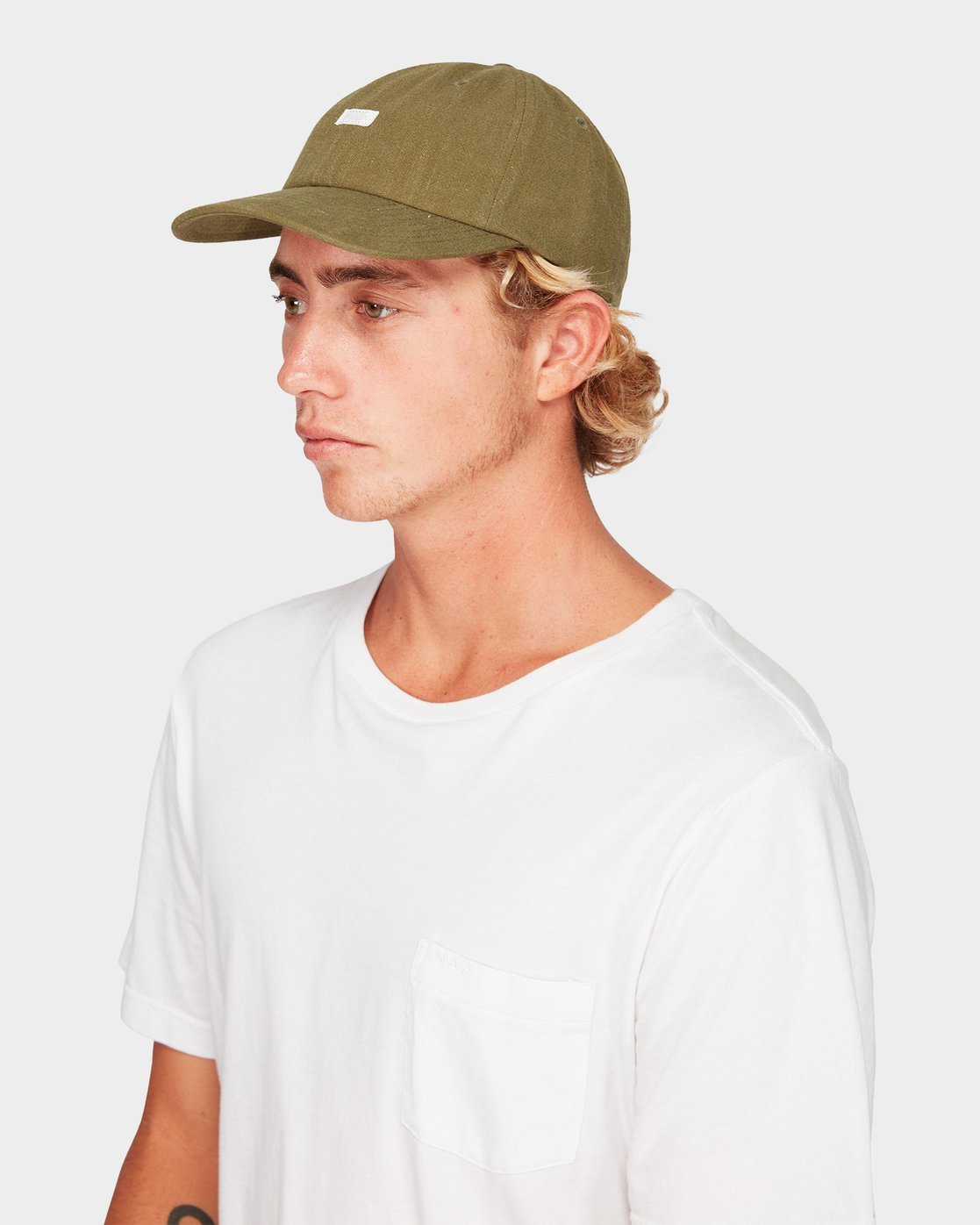 3 CRUSHED LINEN SNAPBACK Green R192566 RVCA
