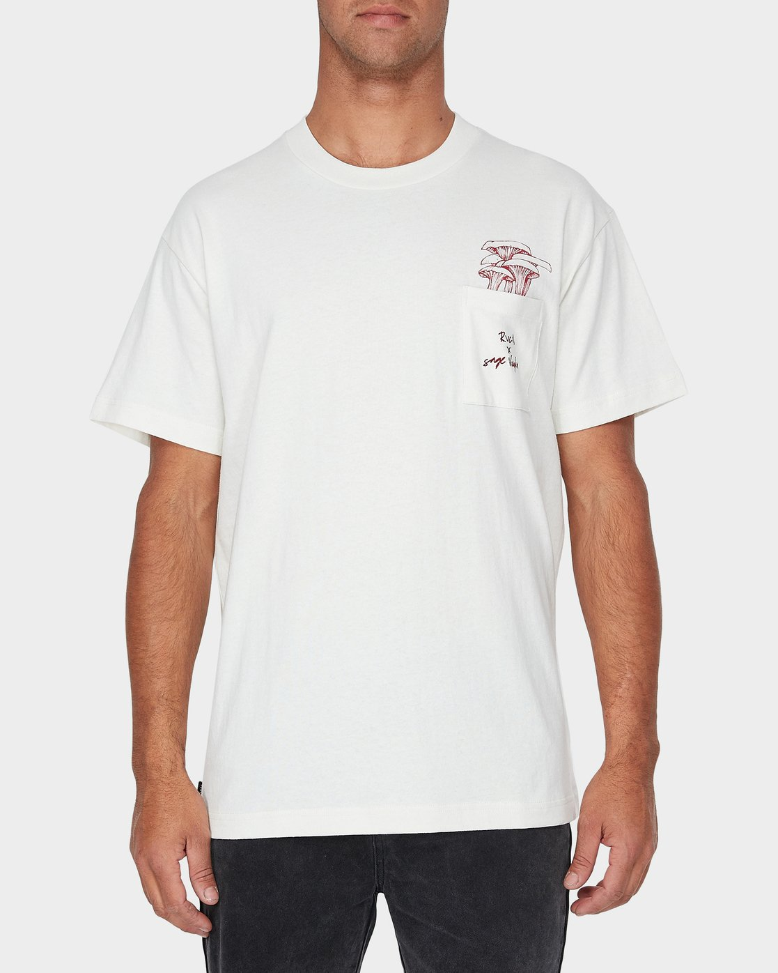 0 Vaughn Shroom Short Sleeve T-Shirt  R193046 RVCA