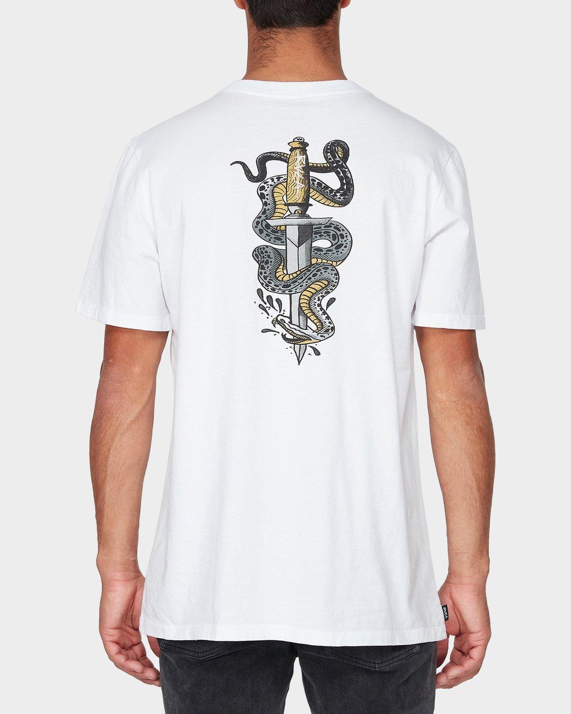 2 Snakes & Daggers Short Sleeve T-Shirt  R193047 RVCA