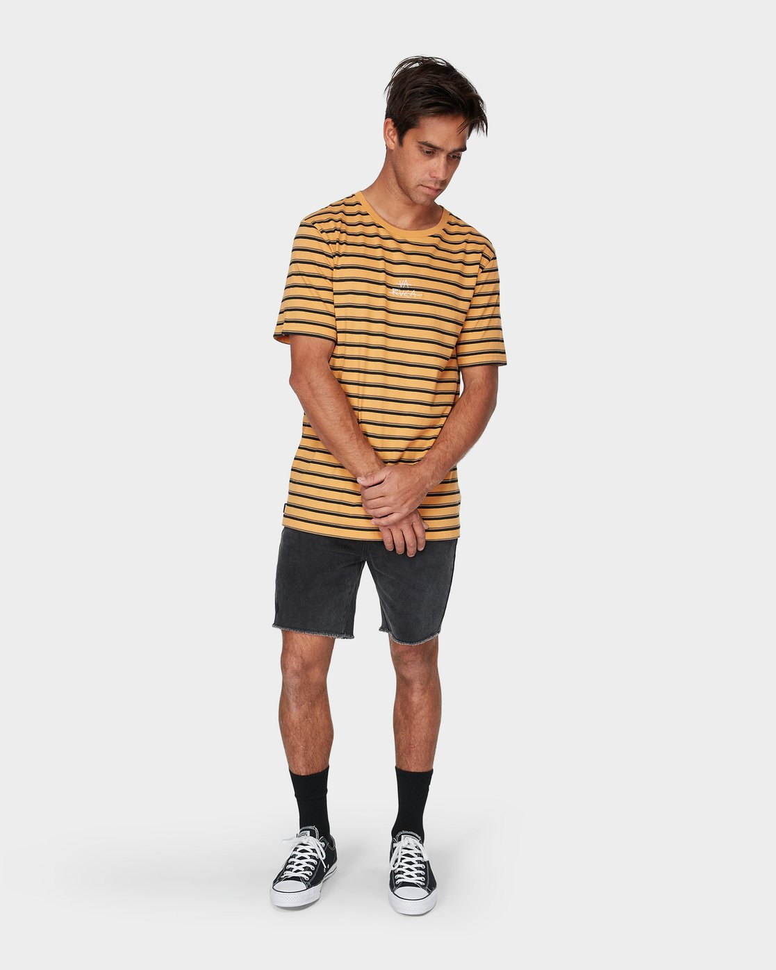 3 Slasher T-Shirt Yellow R193048 RVCA