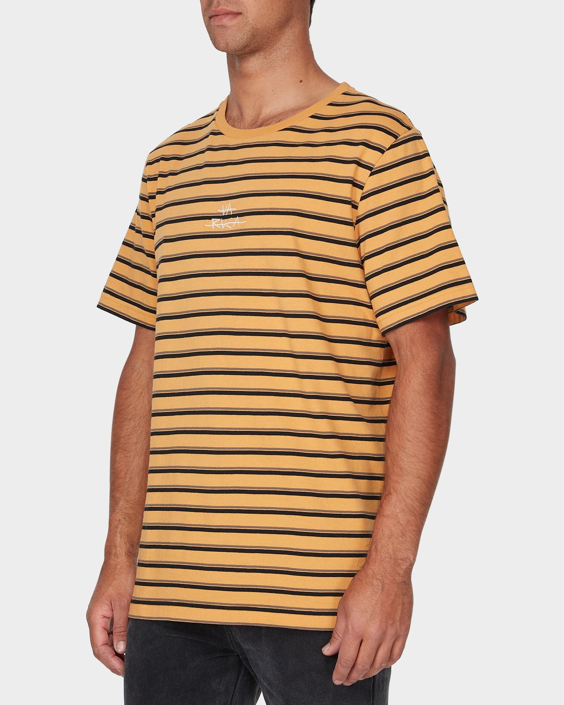 1 Slasher T-Shirt Yellow R193048 RVCA