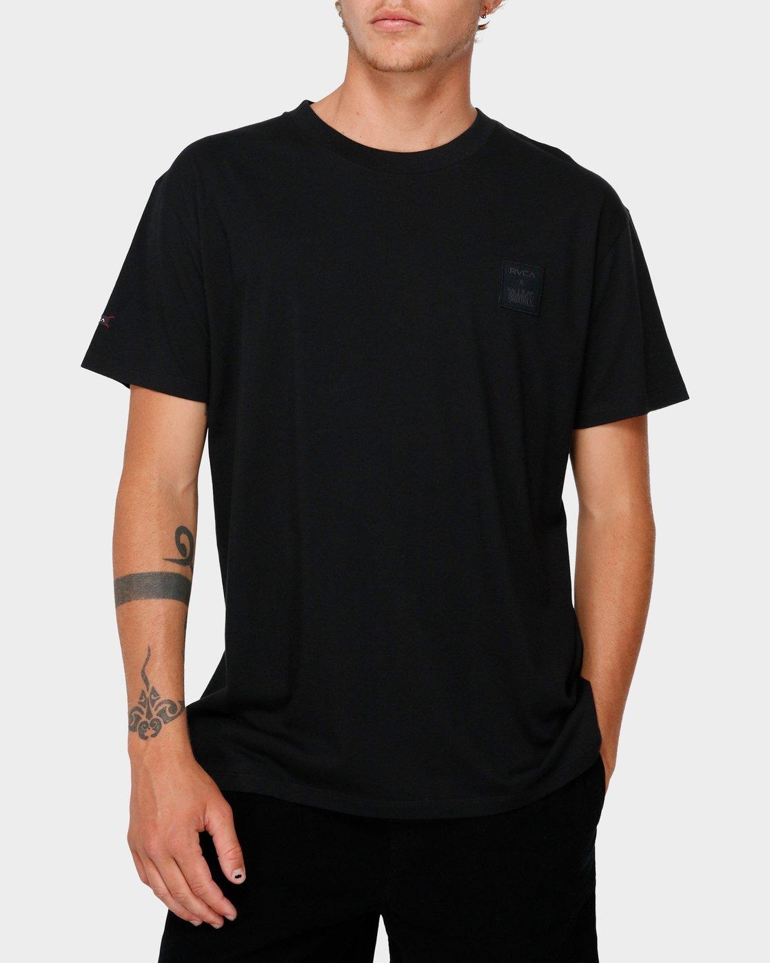 0 RVCA X Highline T-Shirt Black R193066 RVCA