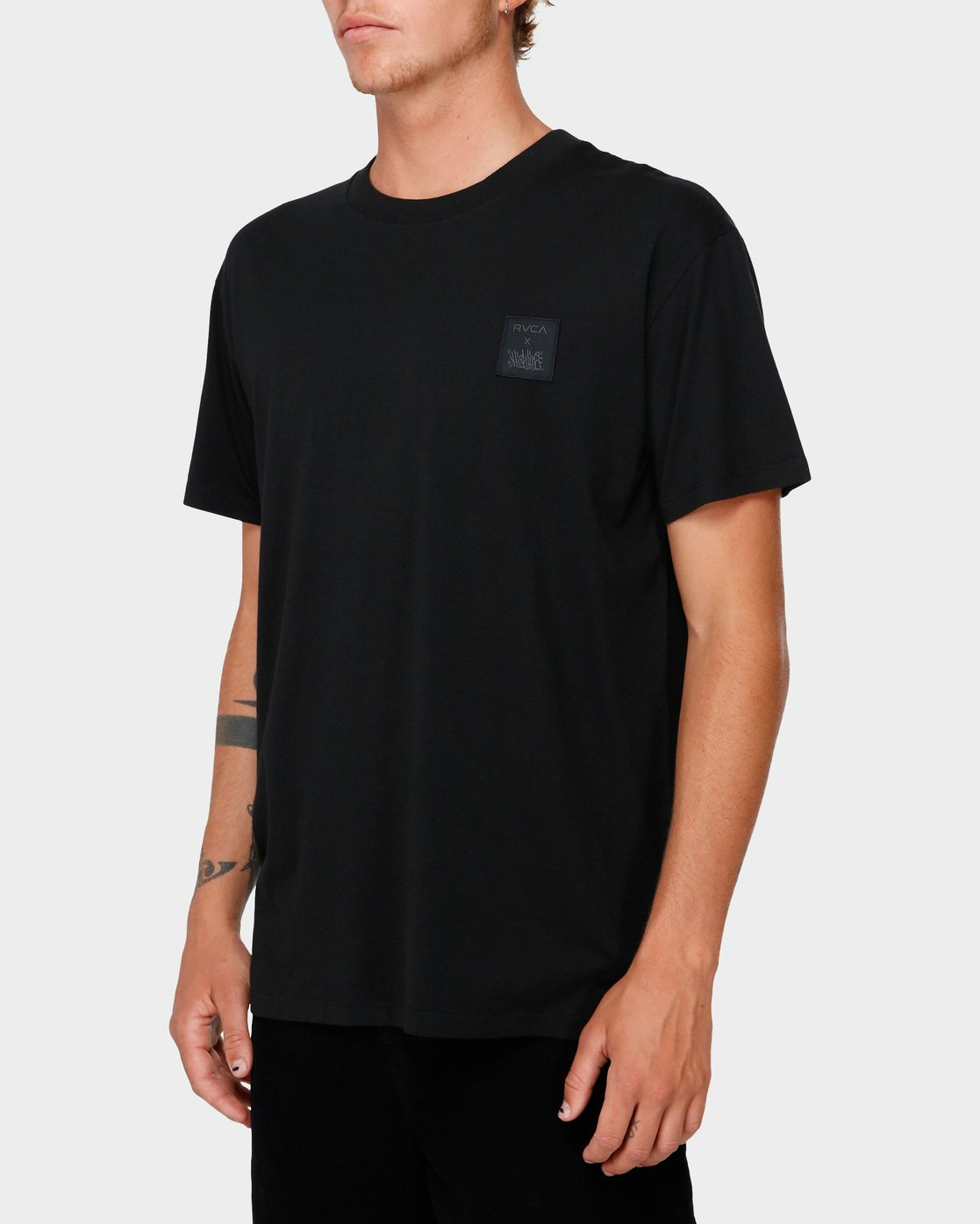 2 RVCA X Highline T-Shirt Black R193066 RVCA