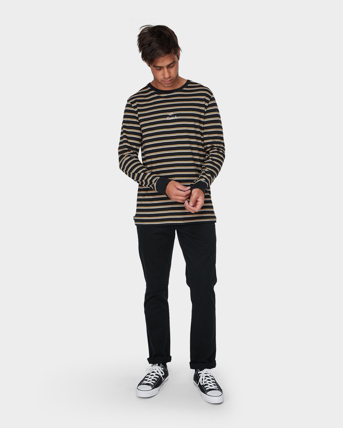 3 Slasher Long Sleeve T-Shirt  R193096 RVCA