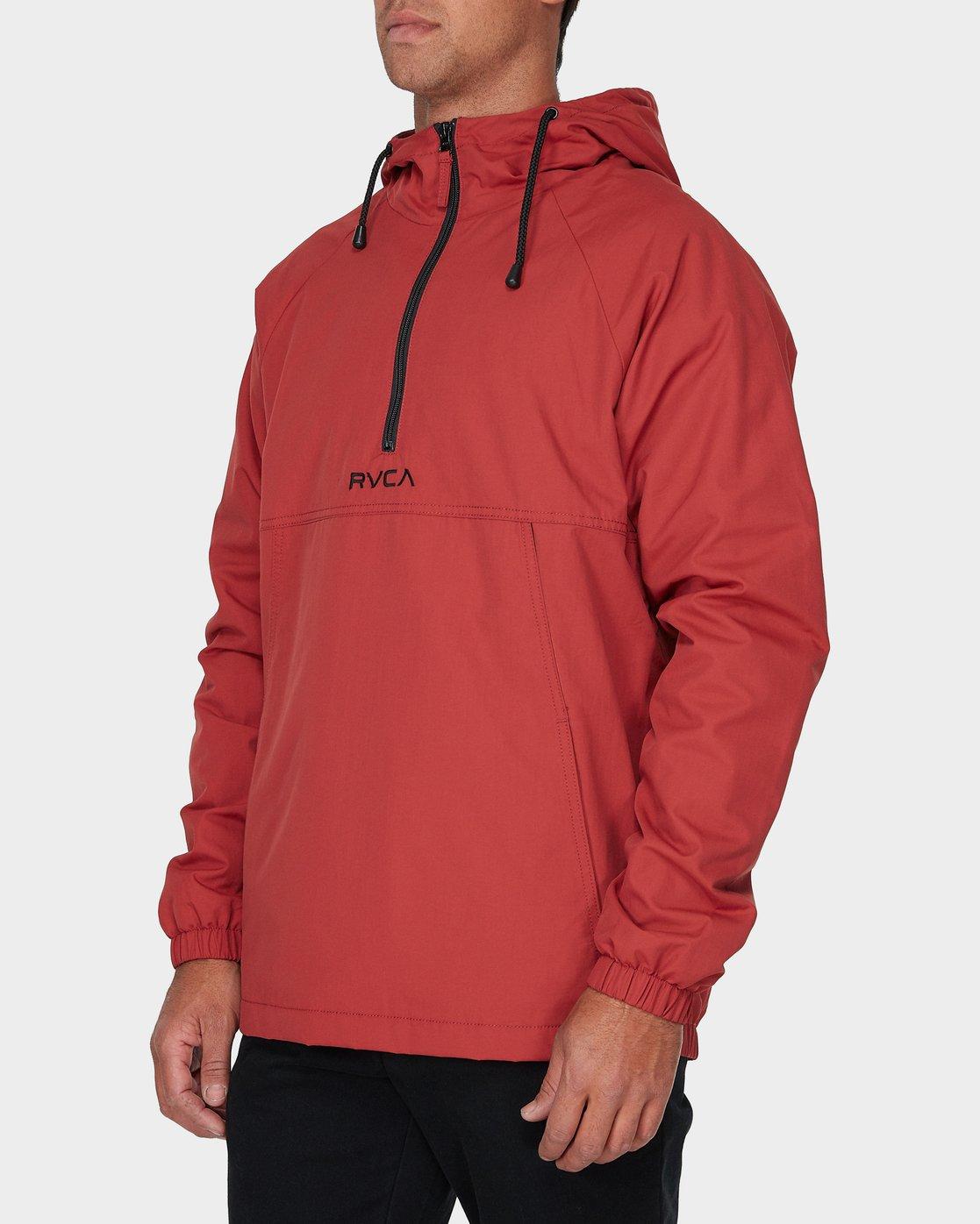 1 Easy As Half Zip Jacket Red R193433 RVCA