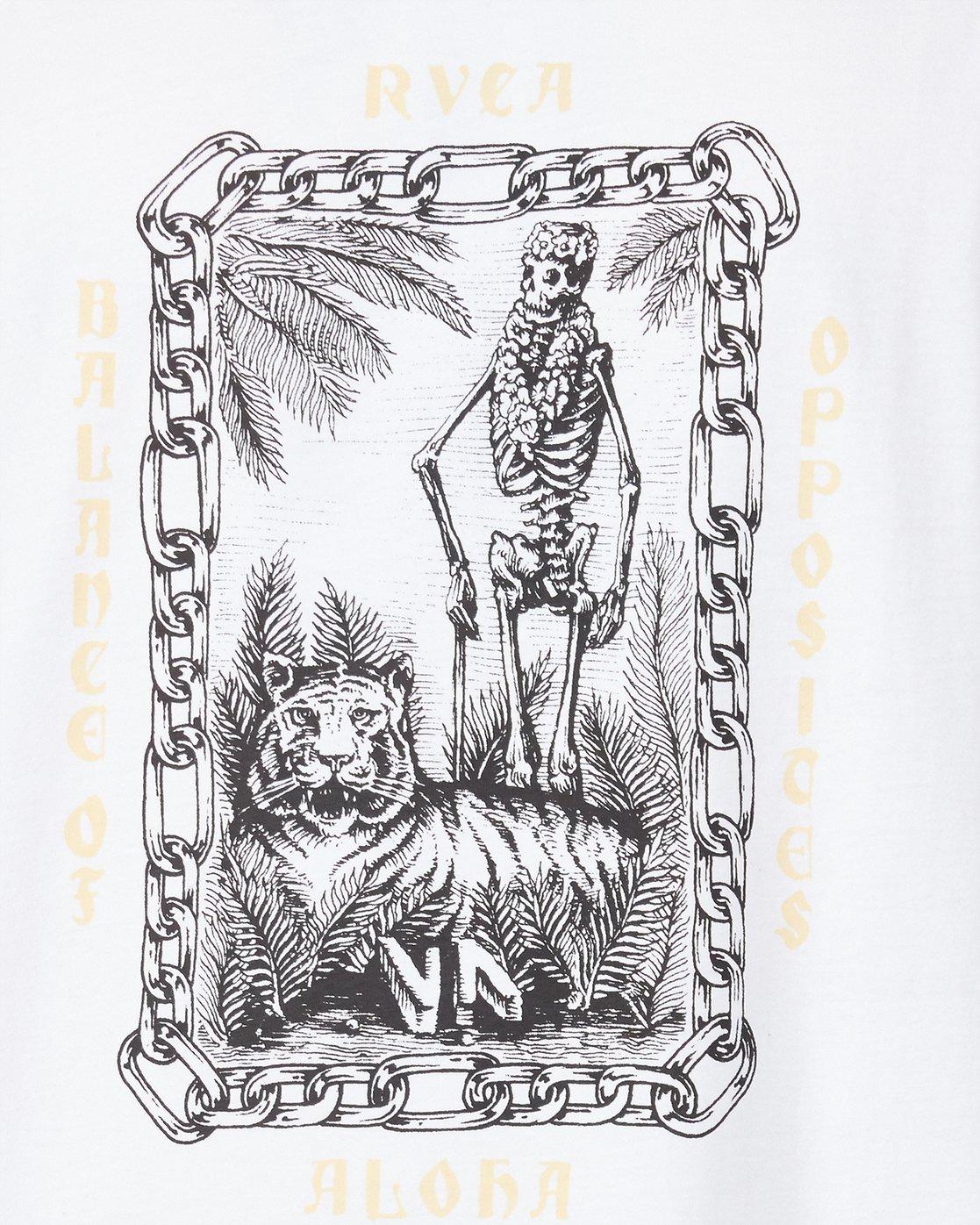 4 Benj Tiger Short Sleeve T-Shirt  R194043 RVCA