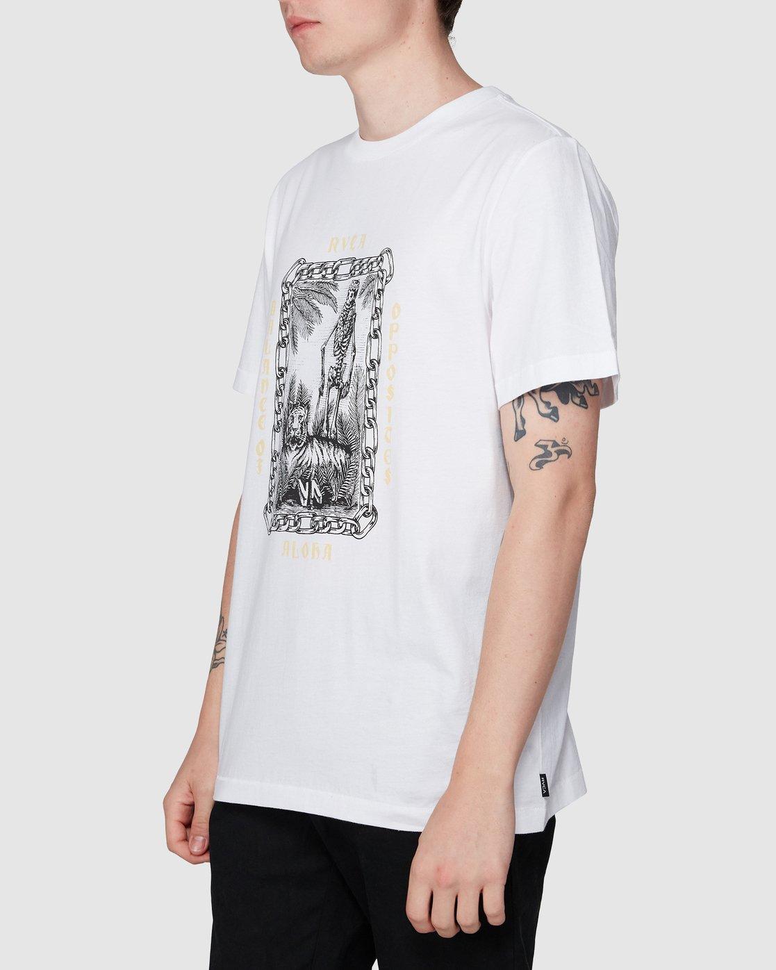 1 Benj Tiger Short Sleeve T-Shirt  R194043 RVCA