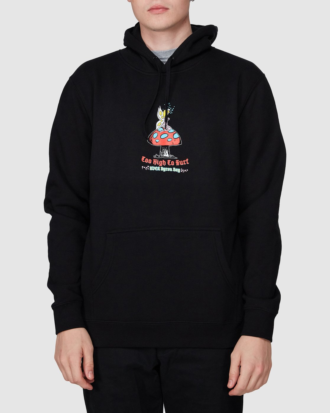 0 Too High To Surf Pullover Black R194156 RVCA