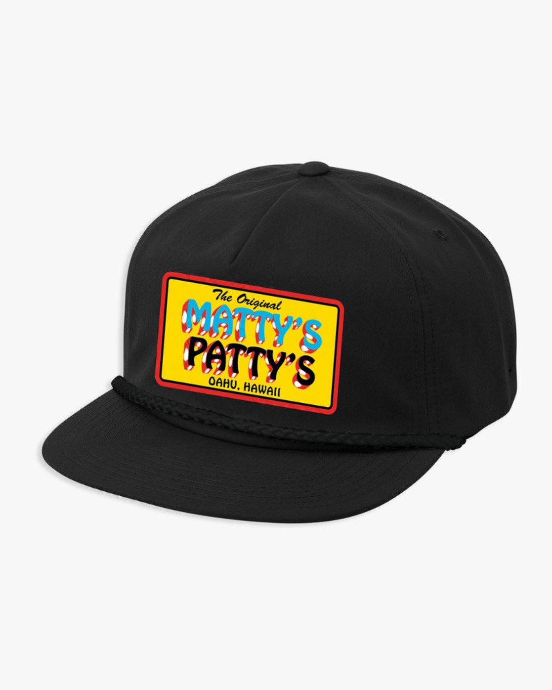 0 Matty's Patty's Snapback Black R194561 RVCA