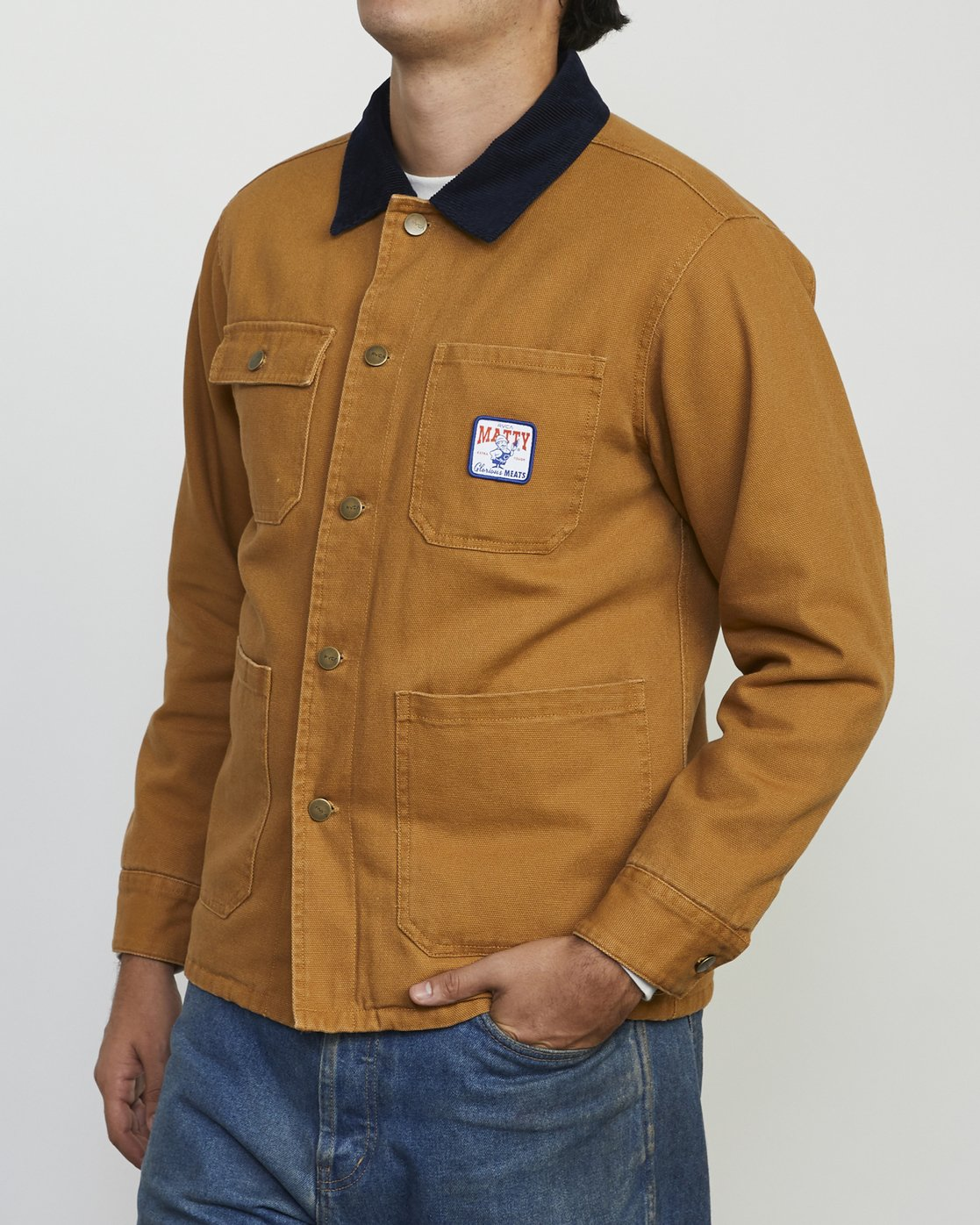 3 Matty Matheson - Chore Shirt Jacket for Men Brown R1JKMARVW9 RVCA