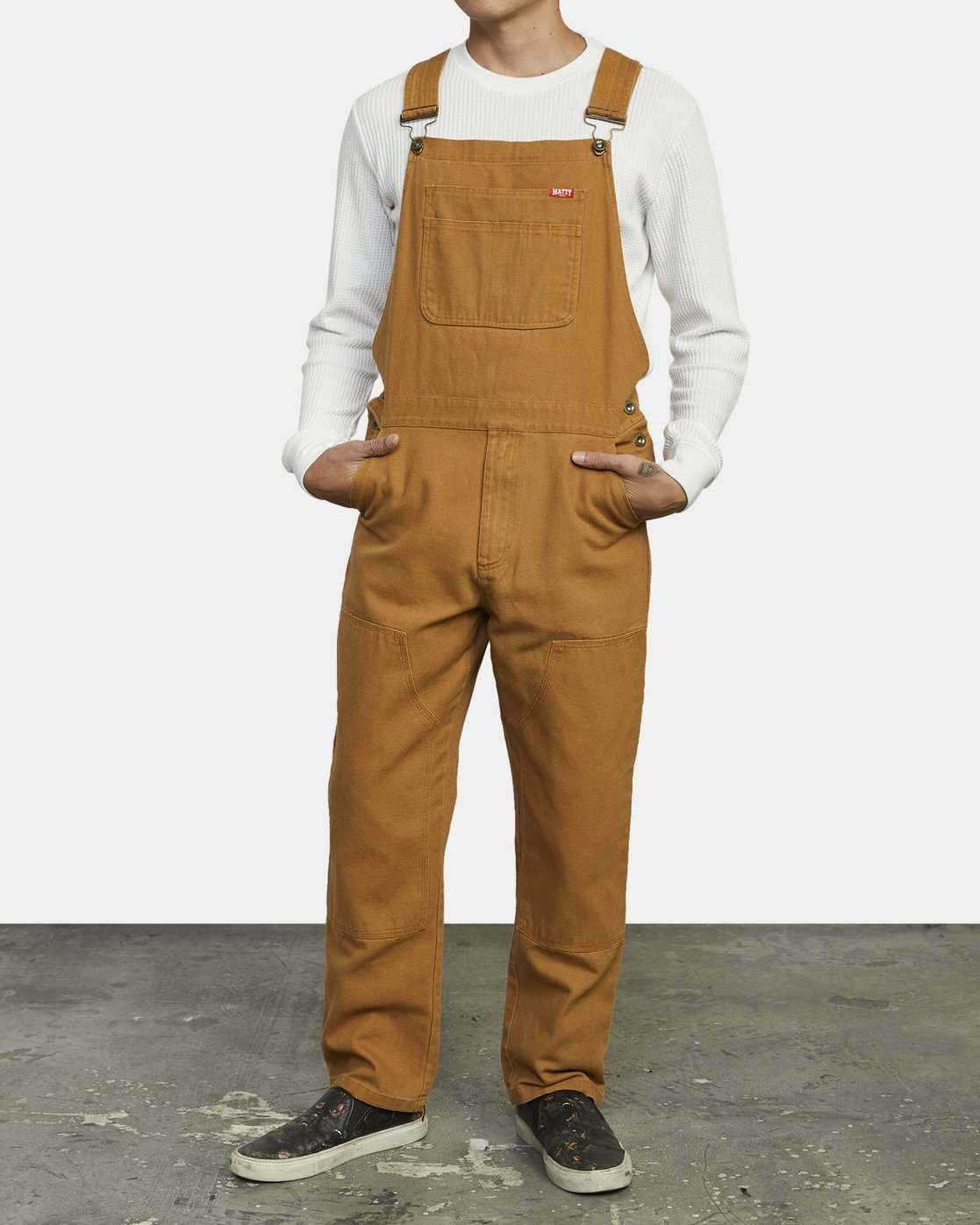 1 Matty Matheson - Dungarees for Men Brown R1PTMARVW9 RVCA