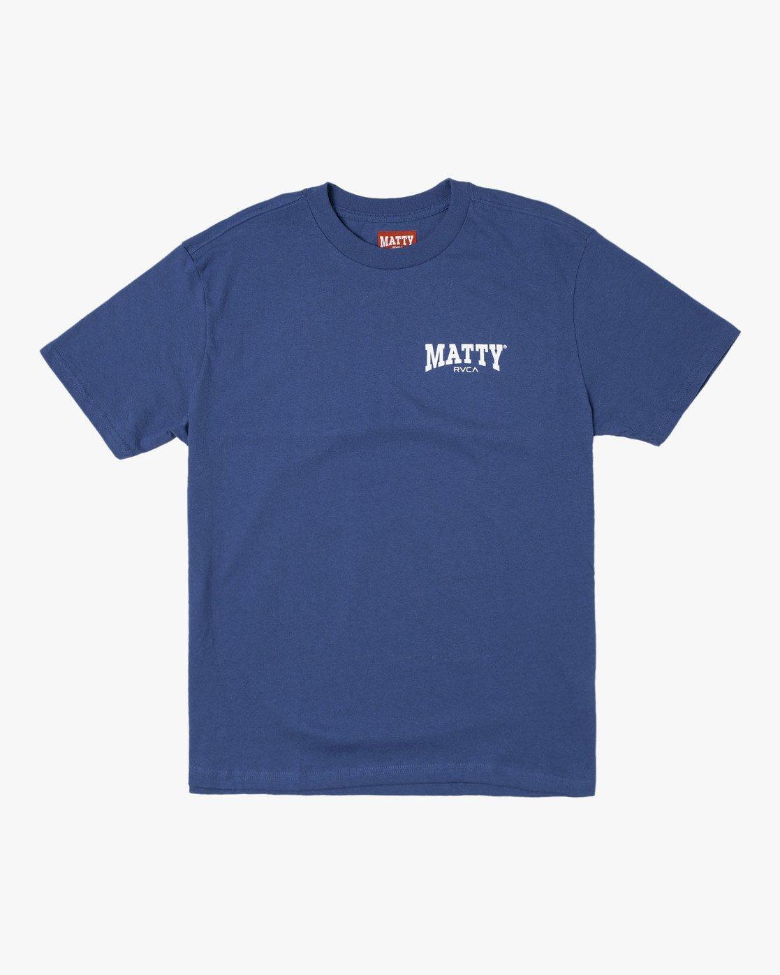 0 Matty Matheson - T-Shirt for Men Blue R1SSMCRVW9 RVCA