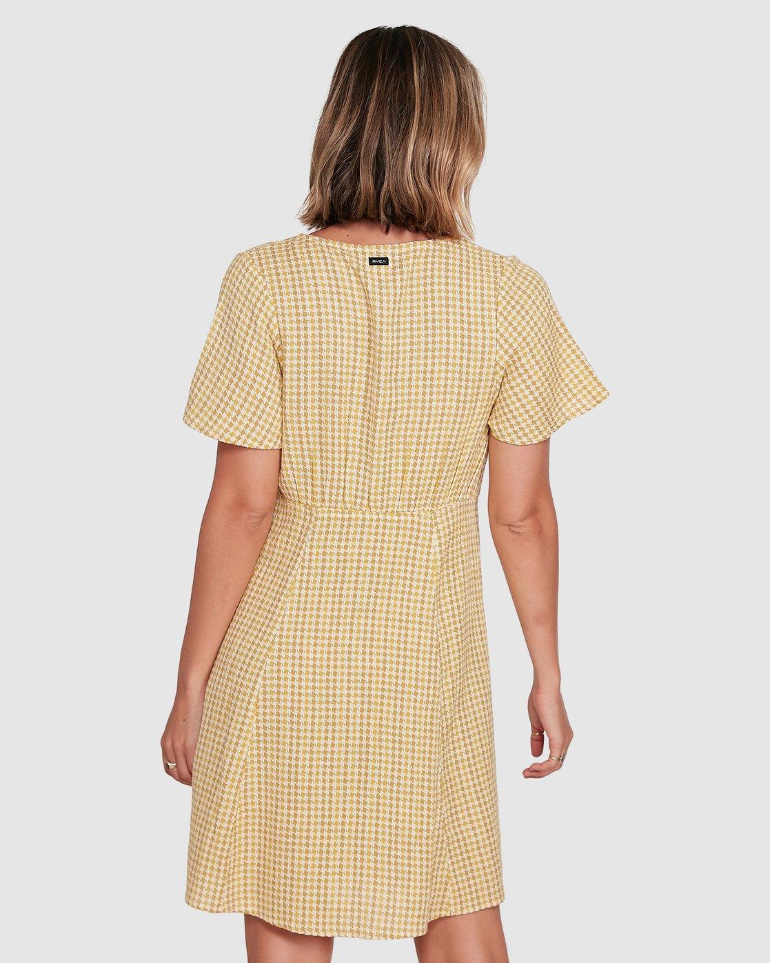 3 Hop Skip Dress Yellow R206753 RVCA