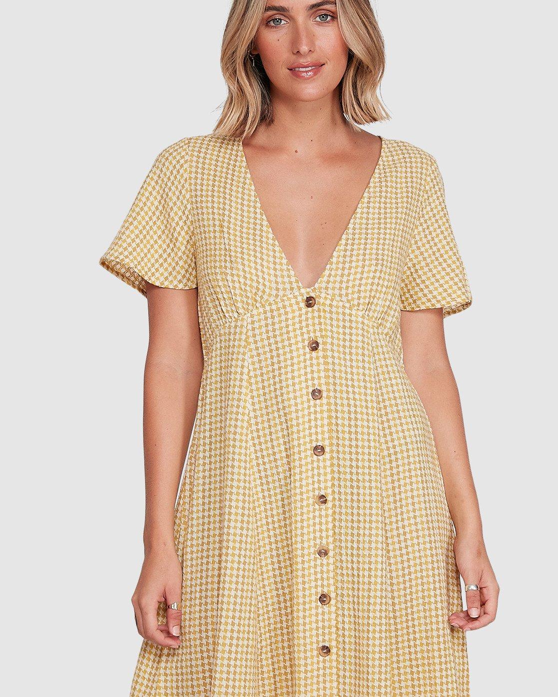 4 Hop Skip Dress Yellow R206753 RVCA