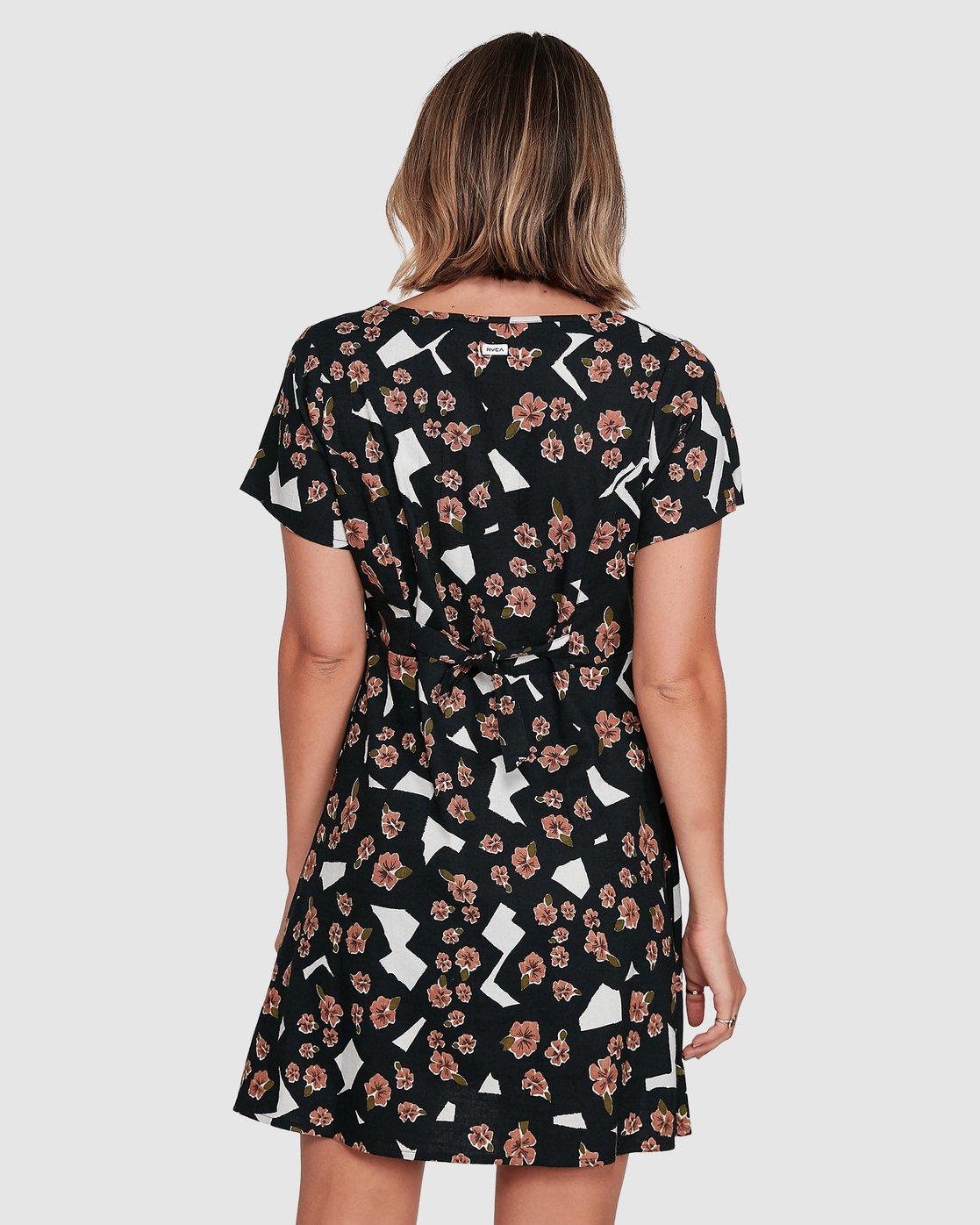 3 Floral Pop Dress Black R206767 RVCA