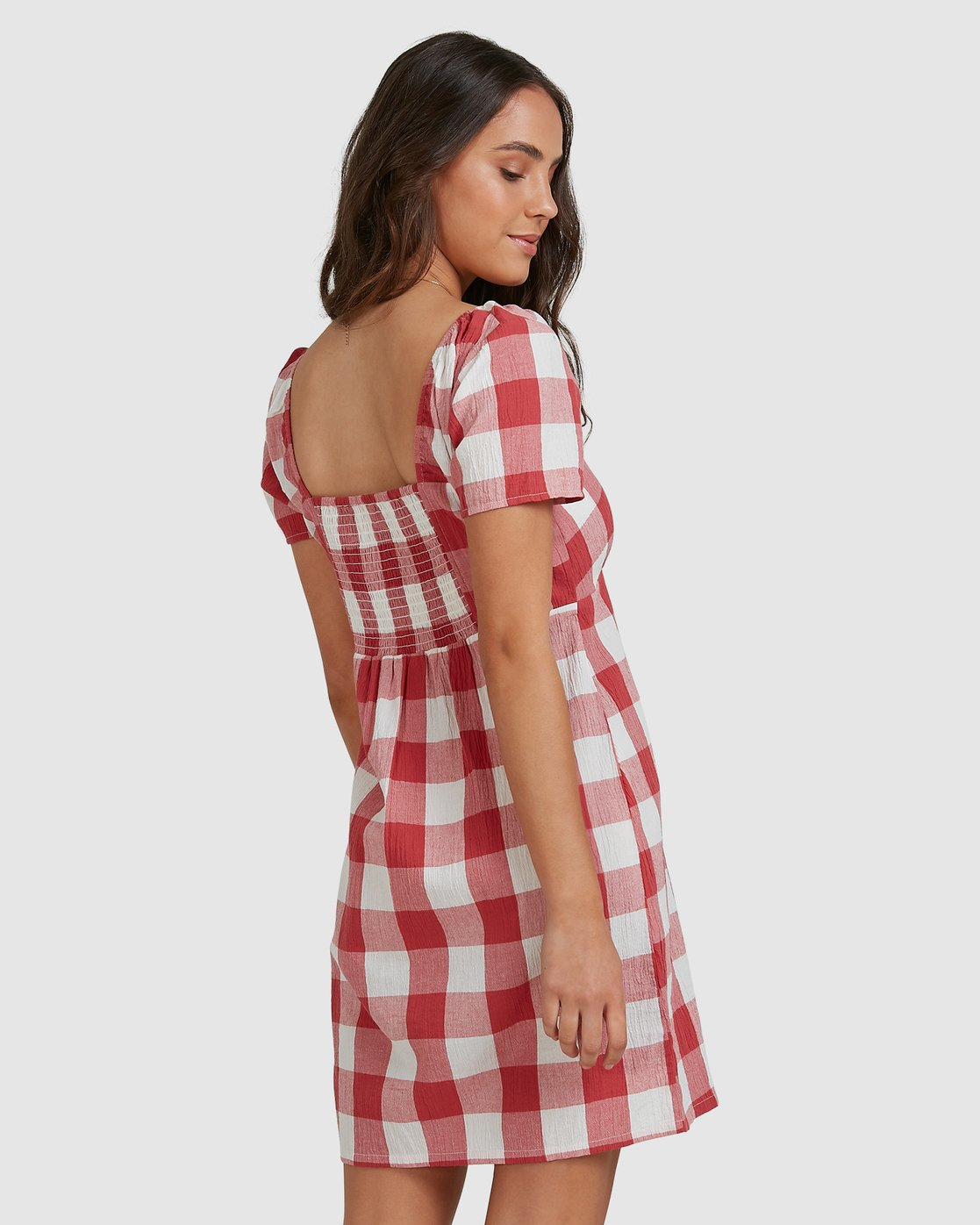 2 Checked Out Dress Green R206769 RVCA