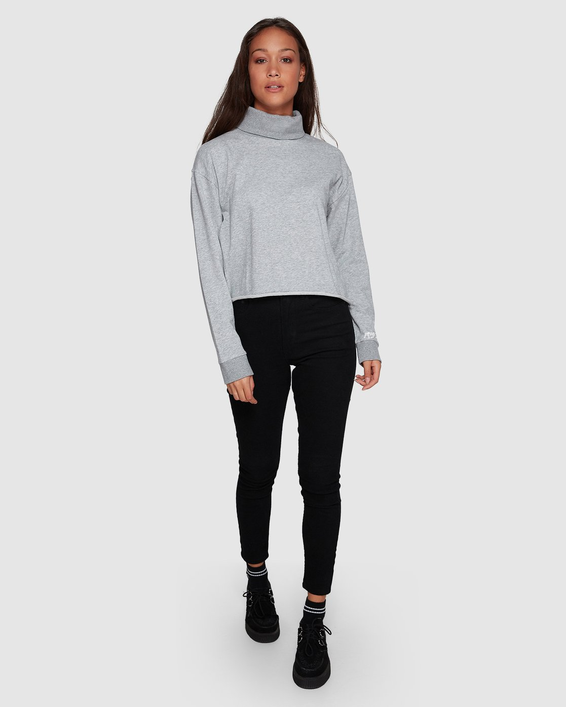 0 Balance Turtleneck Grey R207153 RVCA