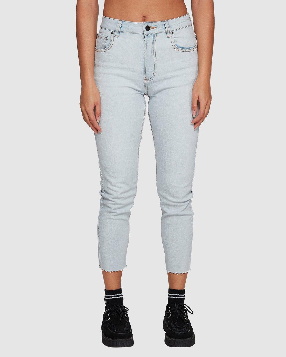 3 Smitten Jean Pants - Bleachout White R207222 RVCA
