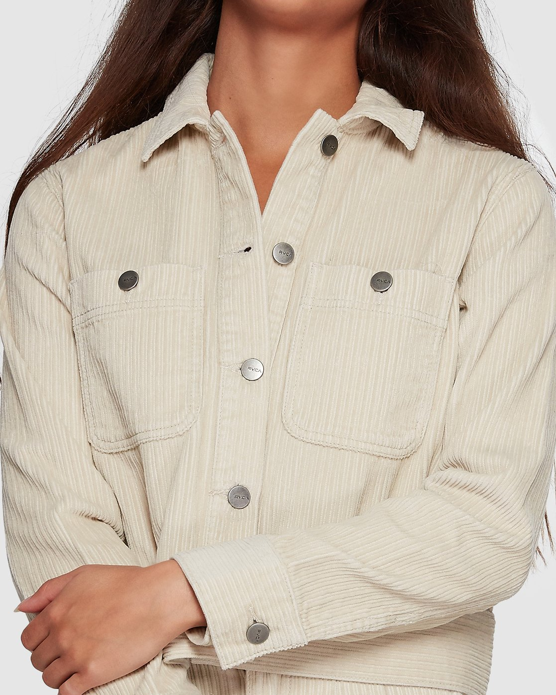 3 Plushed Trucker Jacket Beige R207432 RVCA