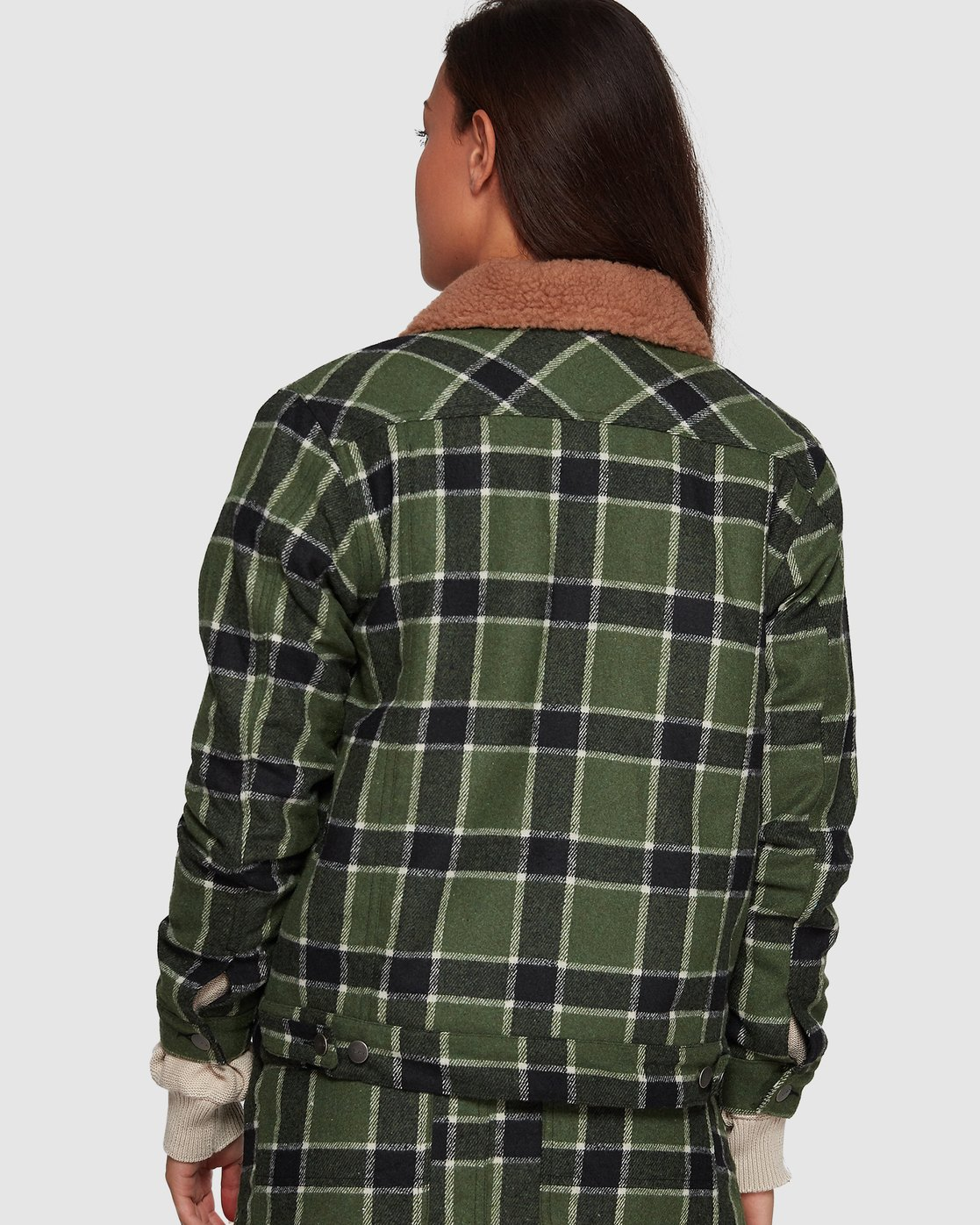 1 Plaid Merc Jacket - Green Green R207435 RVCA