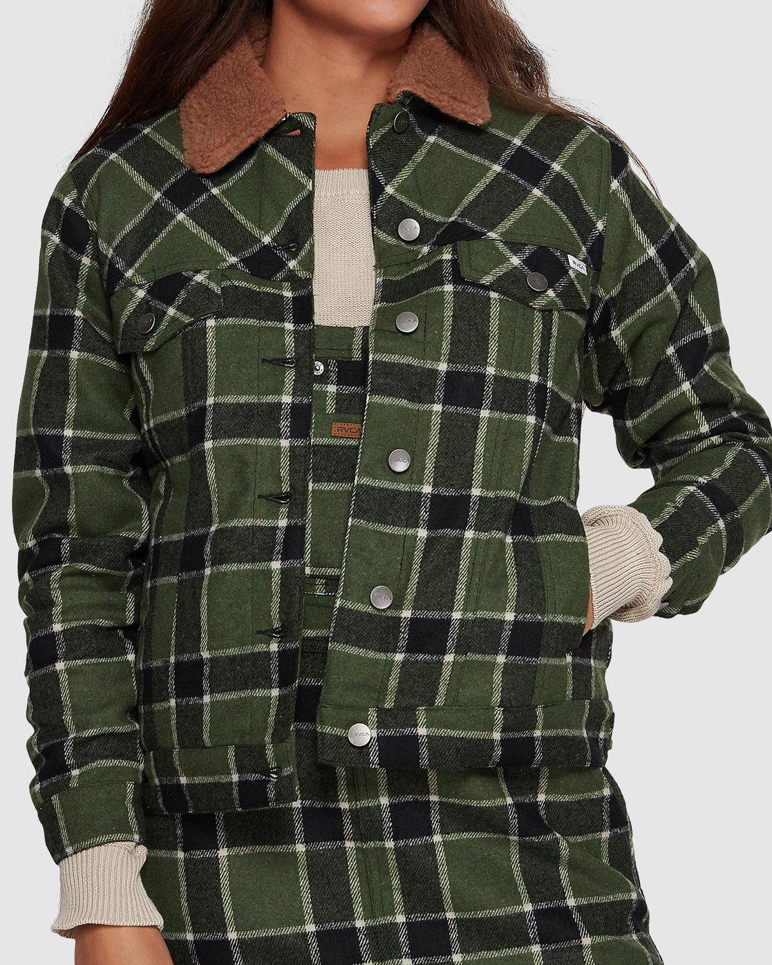 2 Plaid Merc Jacket - Green Green R207435 RVCA