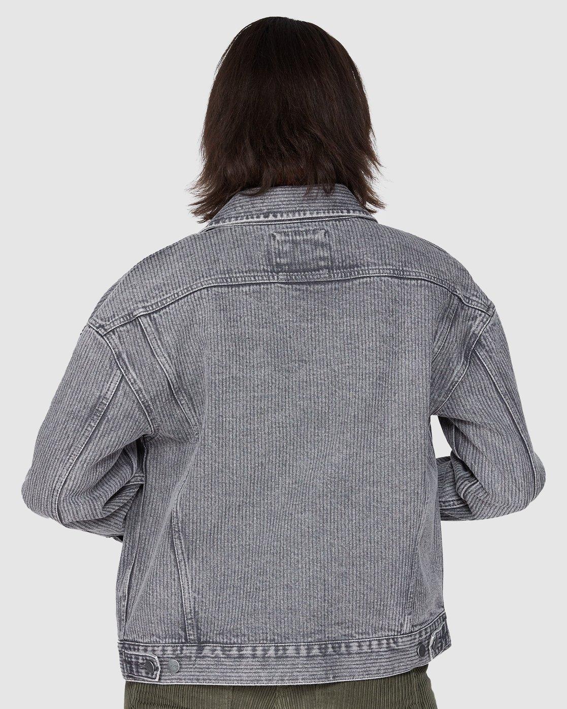 2 Slouch Dnm Jacket - Gry Stripe Grey R207440 RVCA