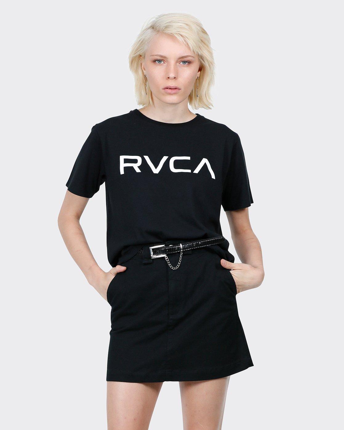 0 Big RVCA Ii T-Shirt Black R271684 RVCA