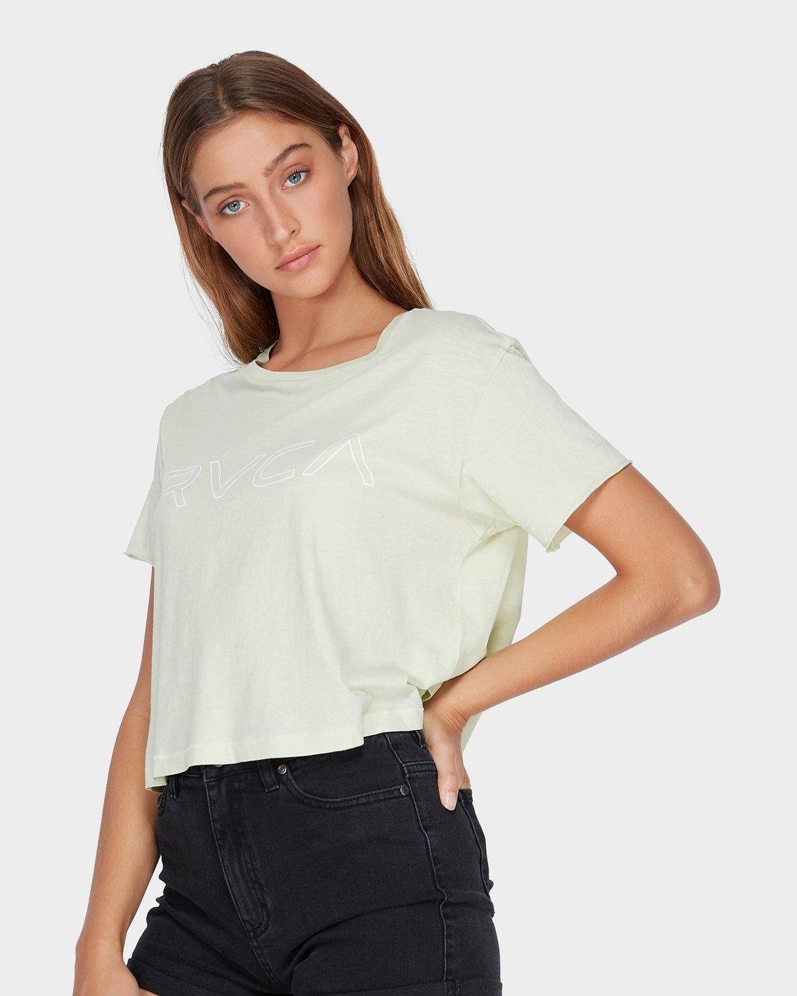 1 Keyline RVCA T-Shirt Green R271685 RVCA