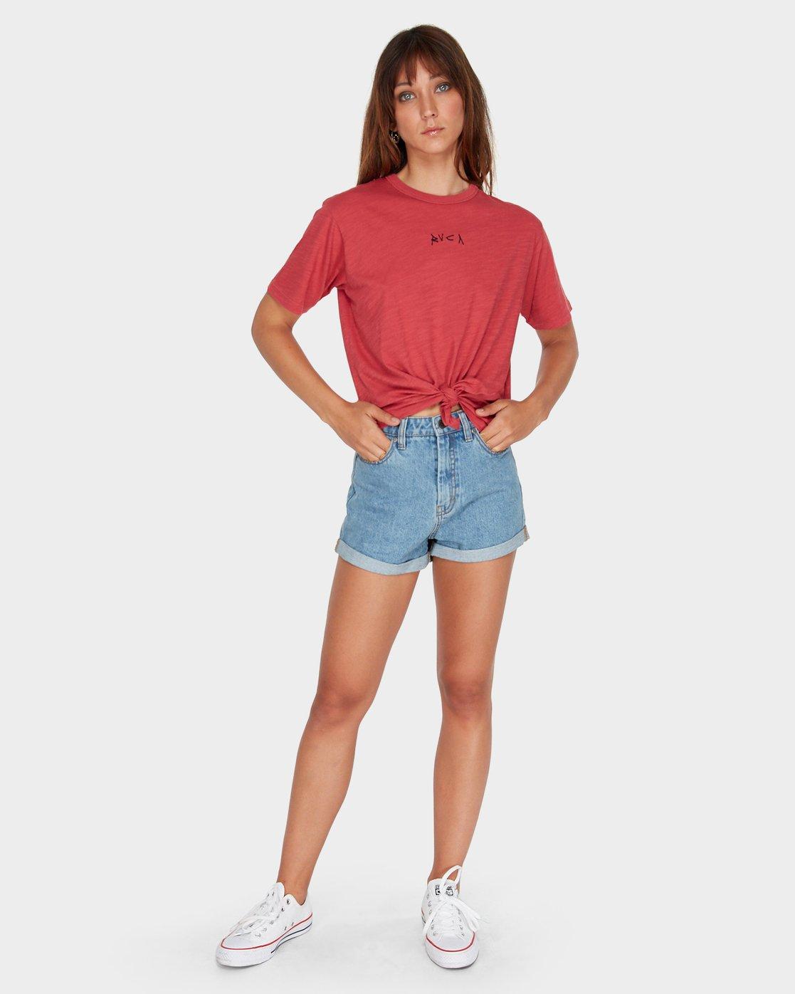 3 Crud Tie T-Shirt  R281694 RVCA