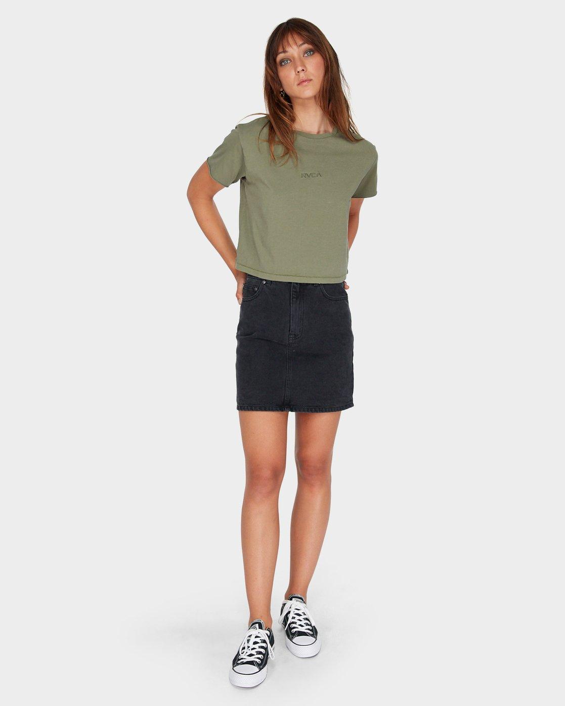 3 Tonally Mini RVCA T-Shirt Green R281696 RVCA