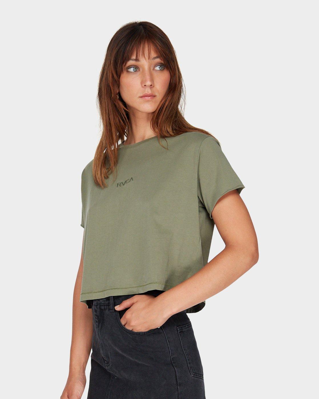 1 Tonally Mini RVCA T-Shirt Green R281696 RVCA