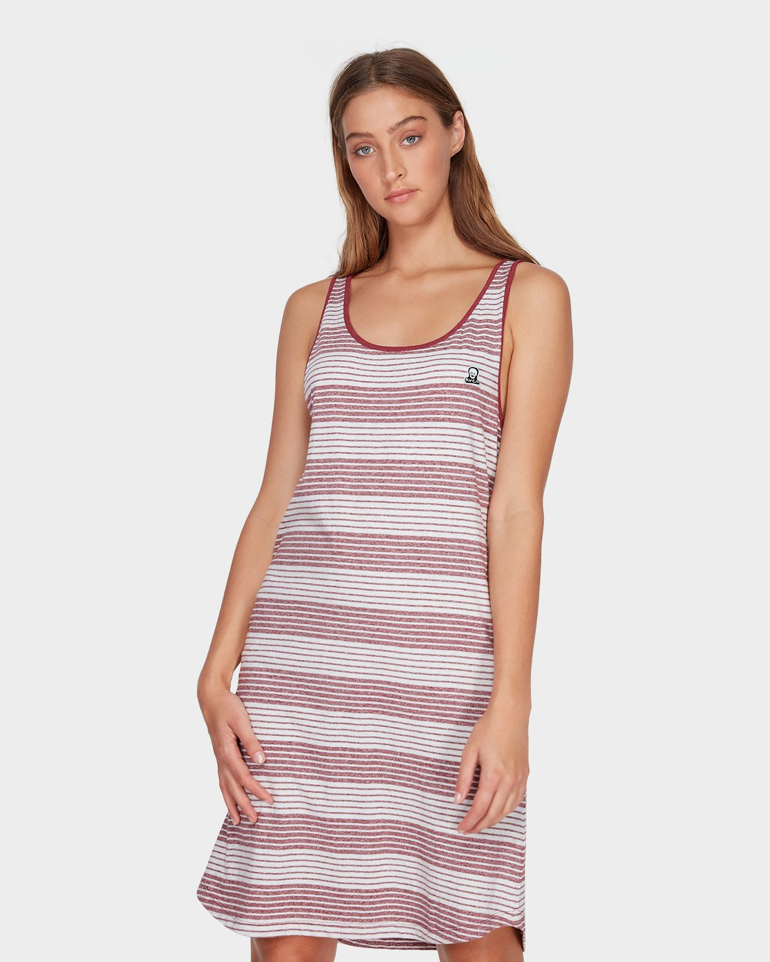 0 Grim Stripe Dress Red R282765 RVCA