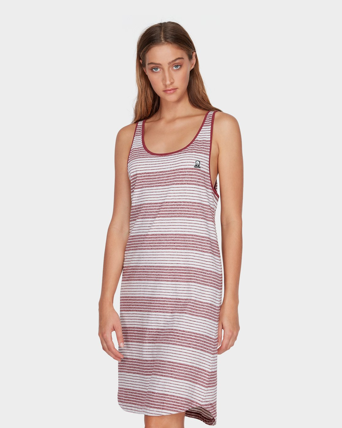 1 Grim Stripe Dress Red R282765 RVCA