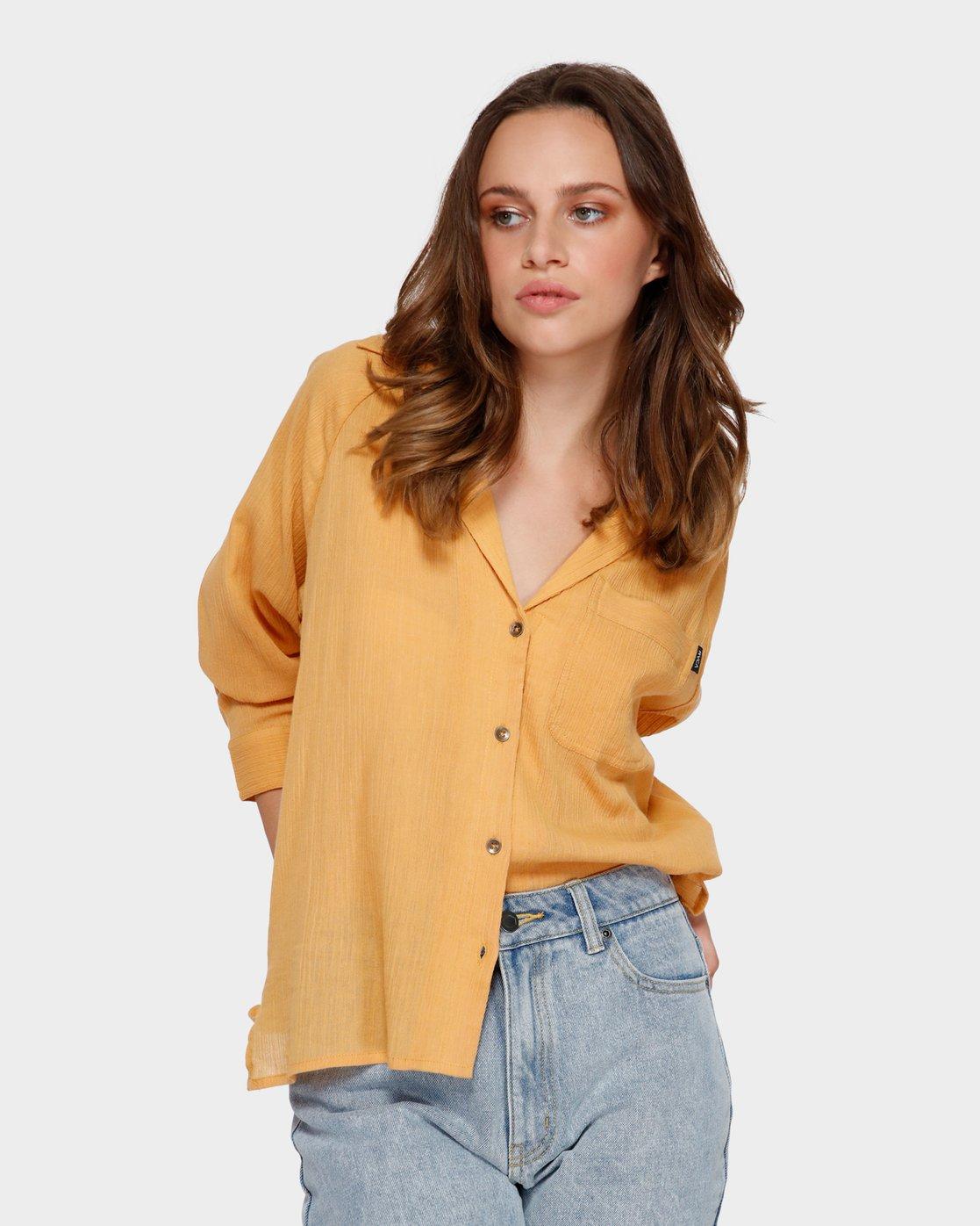 0 Air Weave Shirt Orange R291183 RVCA