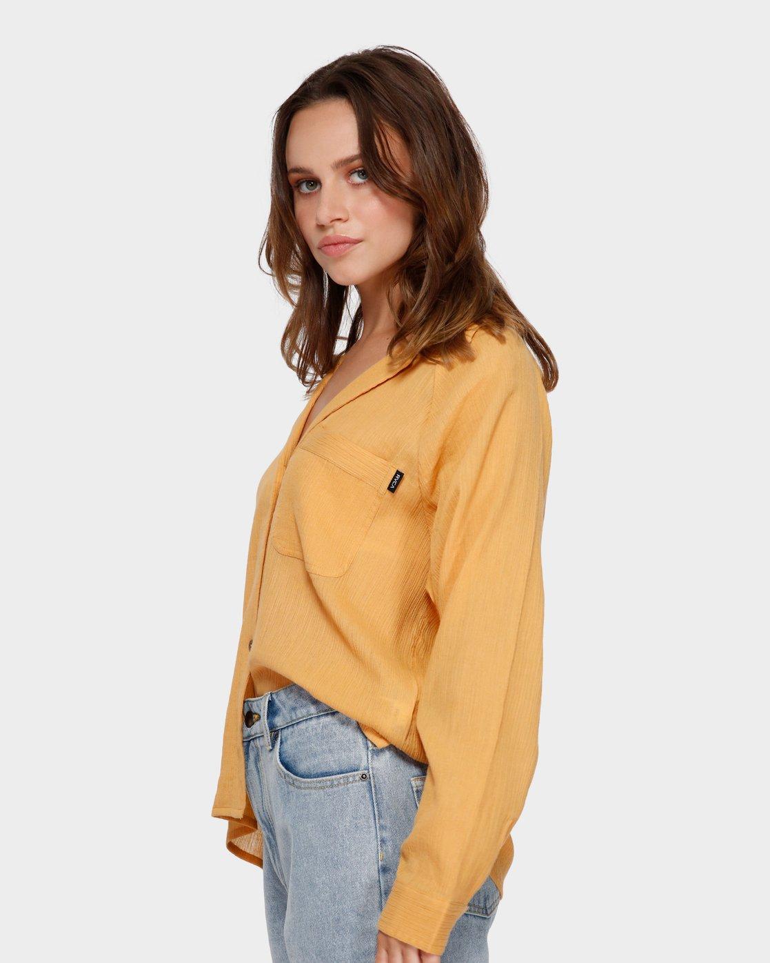2 Air Weave Shirt Orange R291183 RVCA