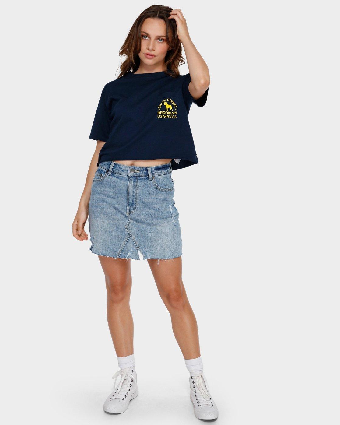 4 Smith Street Pocket T-Shirt Blue R291692 RVCA