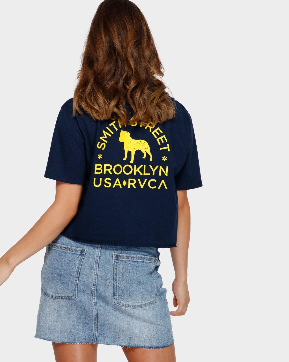 3 Smith Street Pocket T-Shirt Blue R291692 RVCA