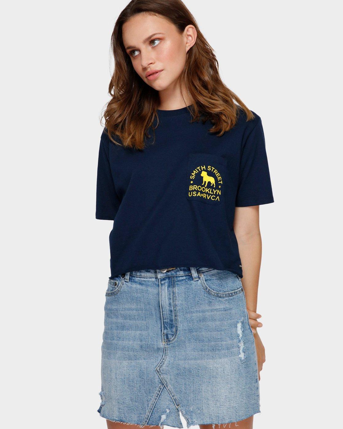 1 Smith Street Pocket T-Shirt Blue R291692 RVCA