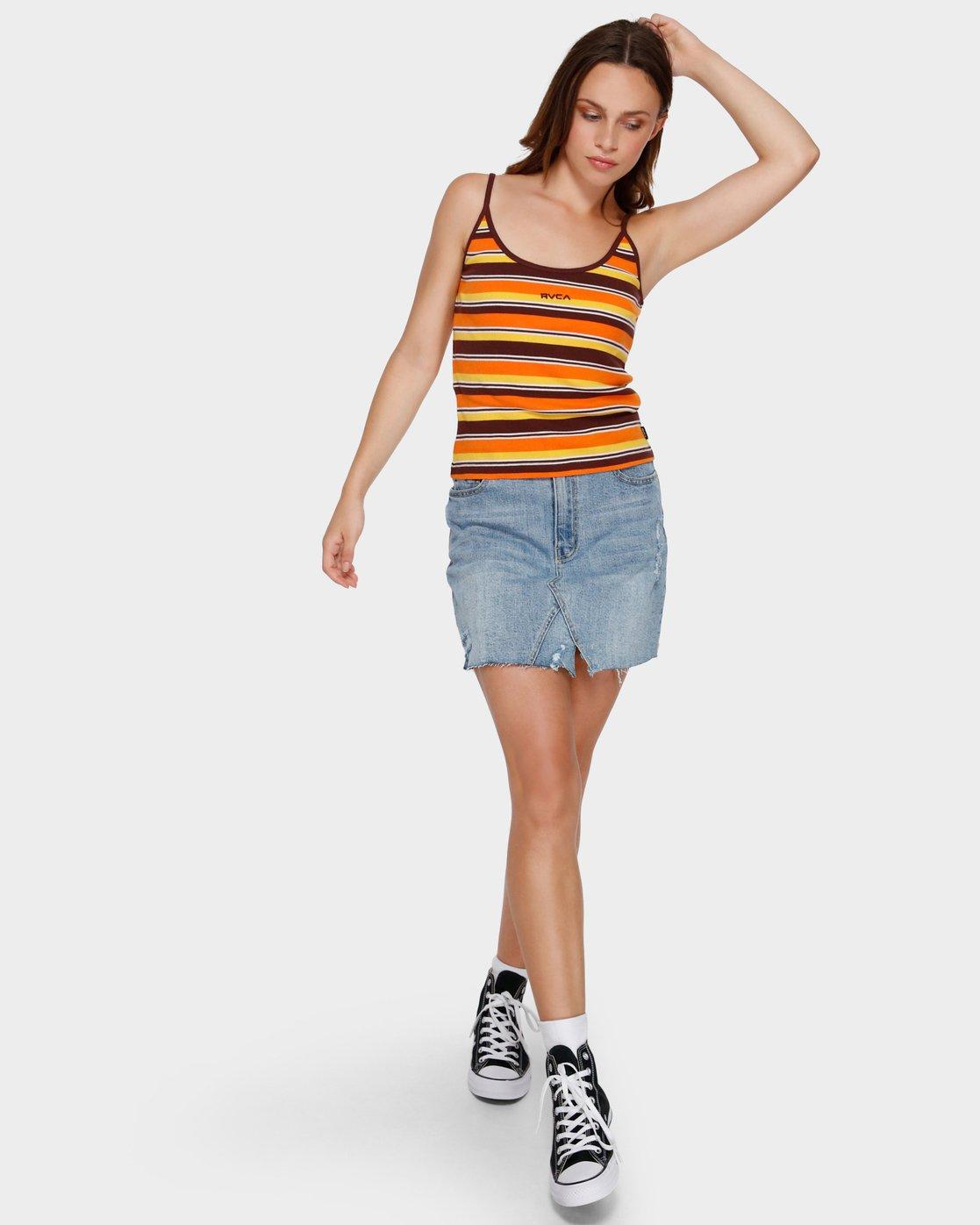 4 Seven O Singlet Orange R291705 RVCA