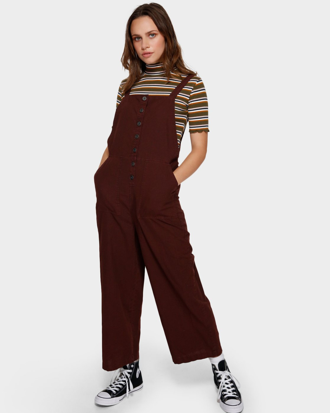 1 SHOUTOUT OVERALL Brown R291757 RVCA