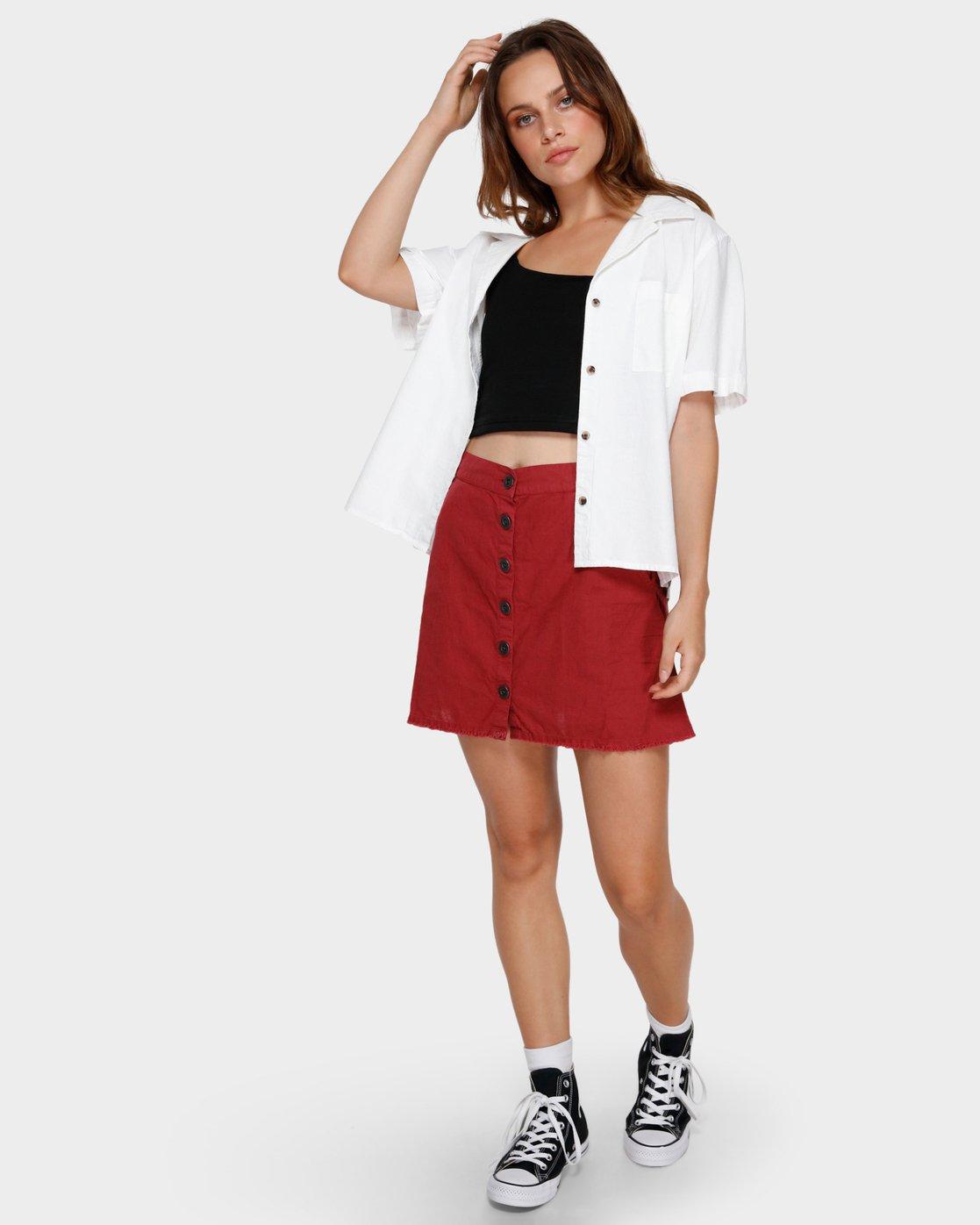 2 Shoutout Mini Skirt Brown R291833 RVCA